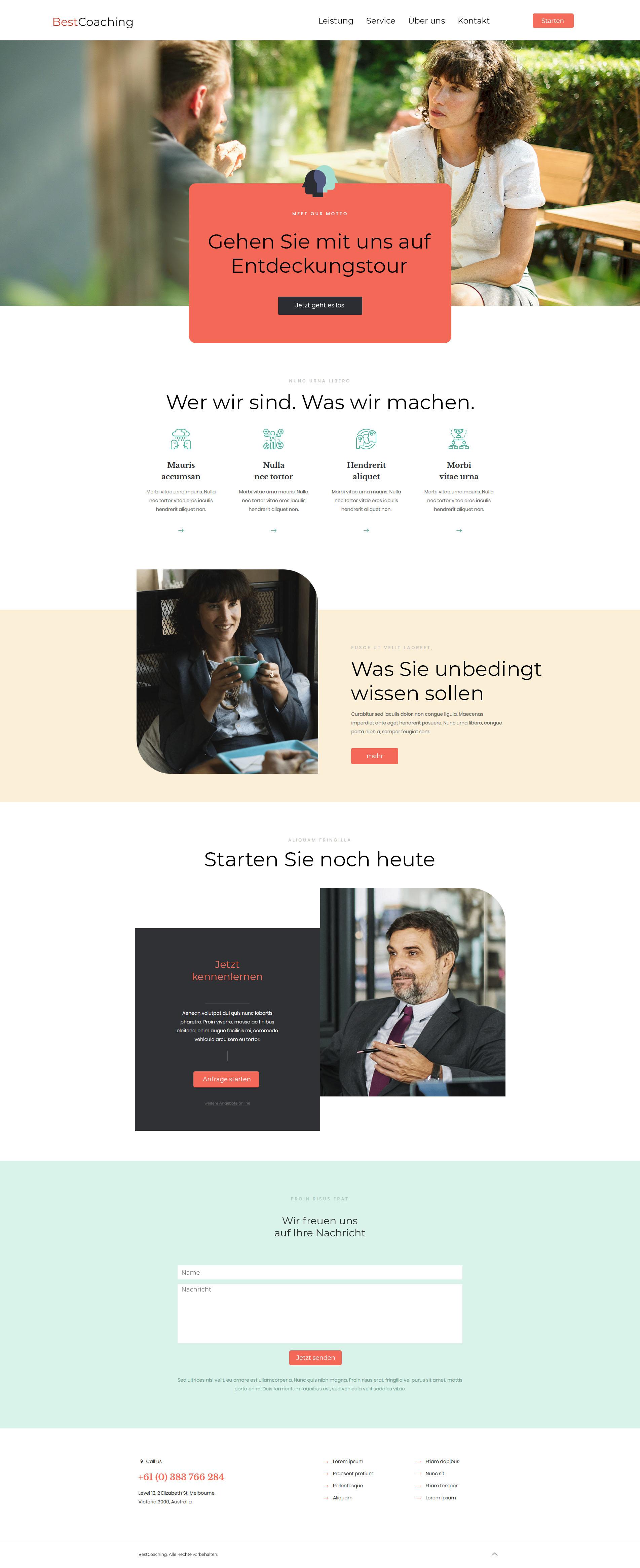 Webseite Template Vorlage Beispiel Referenz