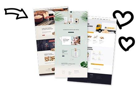 Webseiten Beispiele Referenzen Templates Vorlagen