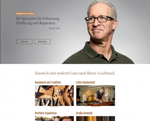 Webseite Polsterei